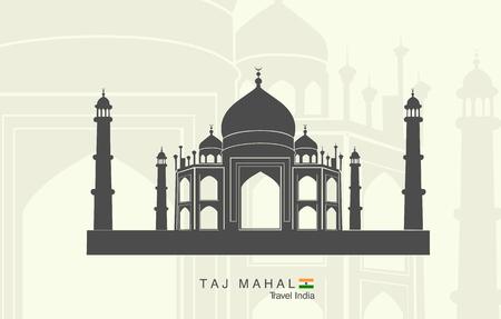 relegion: Illustration of isolated the Taj Mahal in India