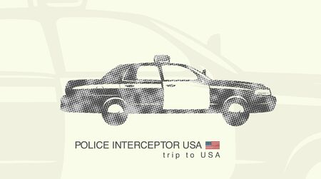interceptor: illustration of a car police interceptor USA