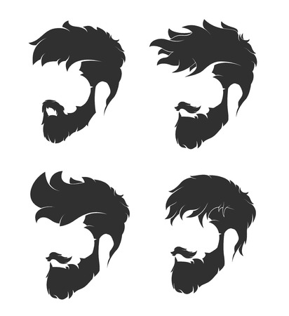 mens hairstyle with a beard and mustache 免版税图像 - 66544138