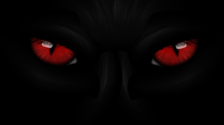 red eyes: red eyes black Panther on dark