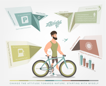 orthographic symbol: character of cyclist with Bicycle and diagrams