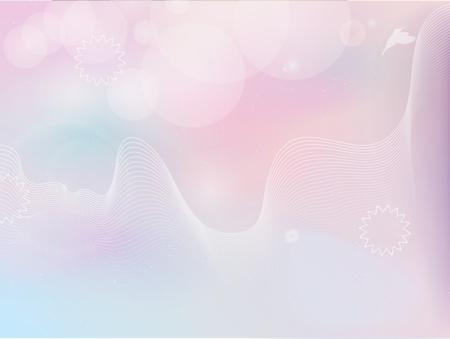 birds in pastel colors Vector Illustration