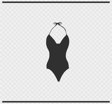bikini icon black color on transparent background