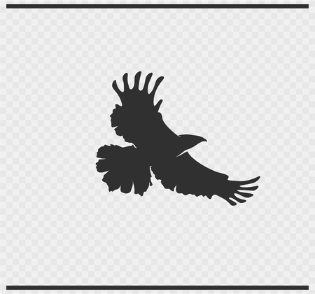 eagle icon black color on transparent