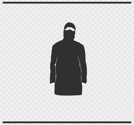 Veil icon black color on transparent Illustration