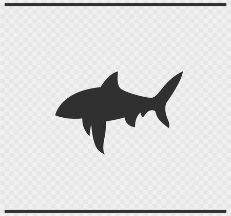 fish icon black color on transparent