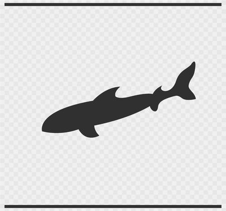 hammerhead shark: fish icon black color on transparent