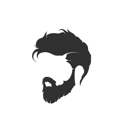 mens hairstyle with a beard and mustache 版權商用圖片 - 80034952