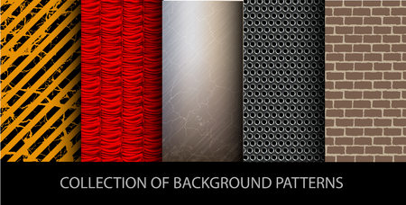 vector collection set of background patterns 向量圖像