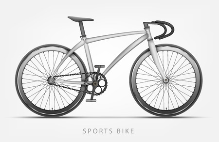 Bike In White Color With Curved Handlebars Royalty Free Cliparts