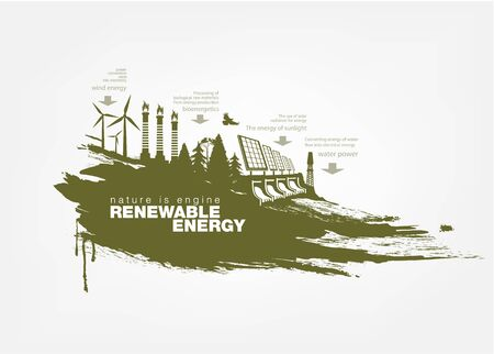 texture grunge Renewable energy Illustration