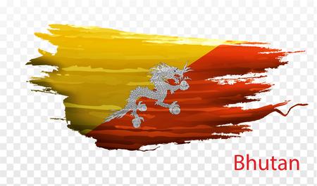homophobia: Smear paint of flag bhutan on transparent background