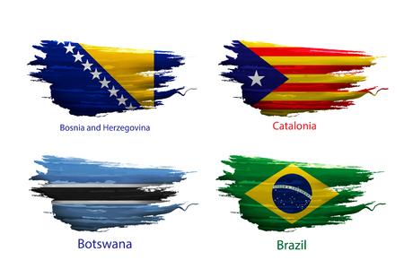 Vetverf verf van vlag land op witte achtergrond Stock Illustratie