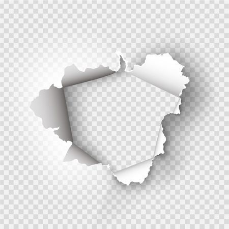 ragged Hole torn in ripped paper on transparent background 版權商用圖片 - 91004157