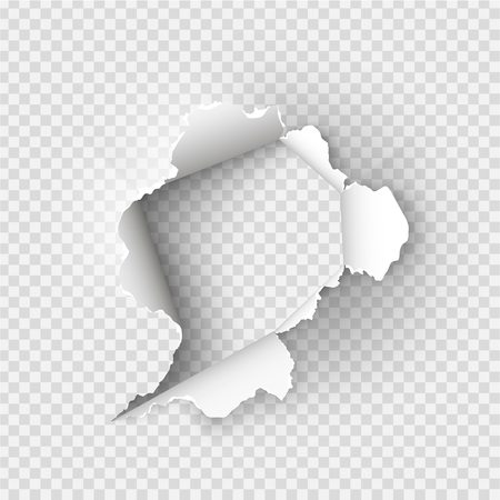 ragged Hole torn in ripped paper on transparent background 版權商用圖片 - 91003154