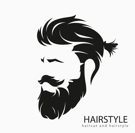 男性の髪型と髪はひげ口ひげでカット。