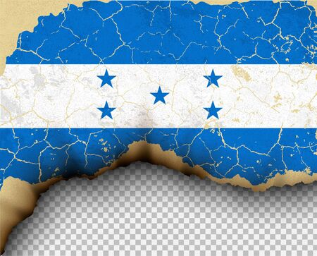Element ripped Honduras flag country templates torn paper burning.