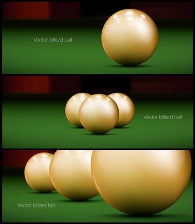 set of billiards banner vector Design