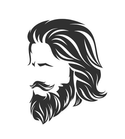 peinados para hombre y corte de pelo con barba bigote en la cara