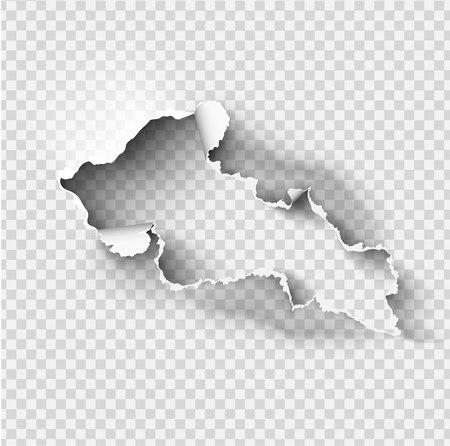 zerlumptes Loch zerrissen im zerrissenen Papier auf transparentem Hintergrund