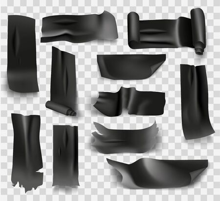 set of electrical tape adhesive black color and insulating tape