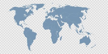 world map divided by countries Illustration