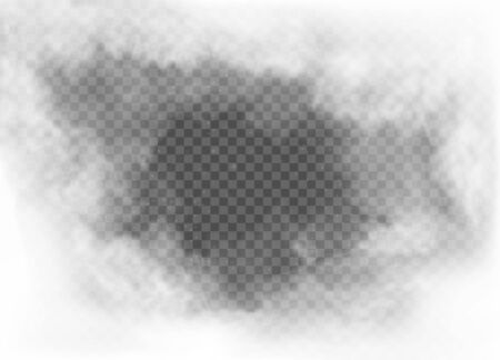 fog and smoke isolated on transparent background Banco de Imagens - 135430497
