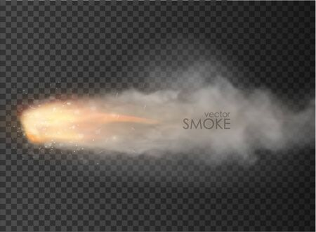 rocket, bullet trail Smoke isolated on transparent background Иллюстрация