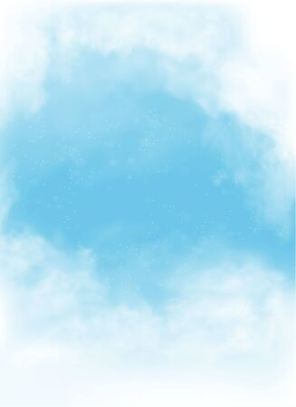 vector clouds and smoke on blue sky