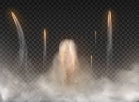 Space rocket Smoke isolated on transparent background