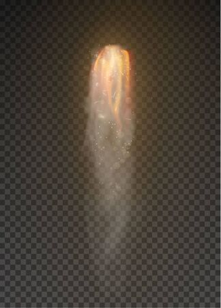 Space rocket bomb Smoke isolated on transparent background Banco de Imagens - 135430551