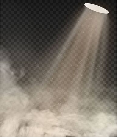 light lamp and Smoke isolated on transparent background