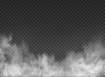 fog and smoke isolated on transparent background