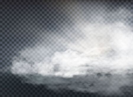 cloud and smoke isolated on transparent background Иллюстрация