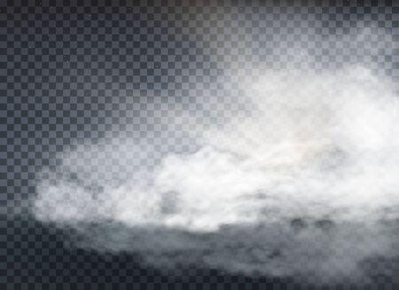 nube y humo aislado sobre fondo transparente