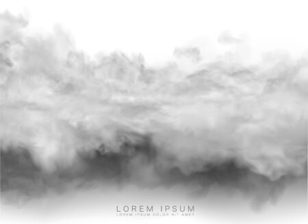 vector clouds and smoke on transparent background