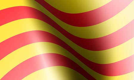 wave flag of country with shadow and glare in illustration