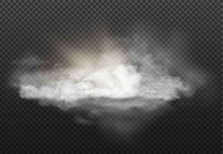 cloud set and smoke isolated on transparent background Illustration
