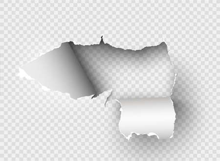 ragged Hole torn in ripped paper on background