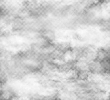 fog and smoke set isolated on transparent background