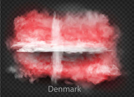 background of flag of smoke and clouds