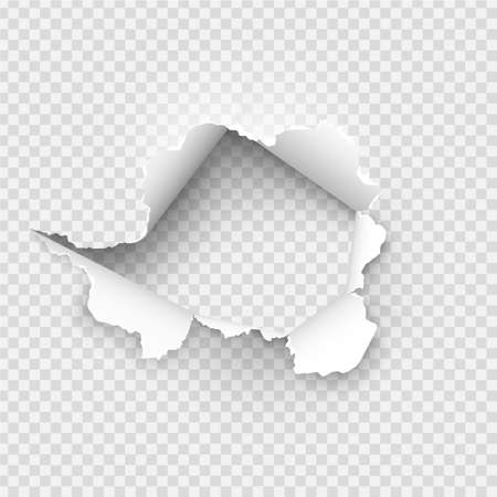 ragged Hole torn in ripped paper on background Banque d'images