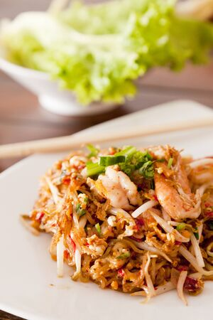 Fried noodle spicy with shrimp or Pad-Thai.