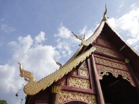gable: Gable Unique architecture design and art of Lanna Thai Stock Photo