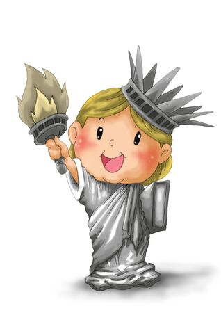 Child Statue of Liberty photo