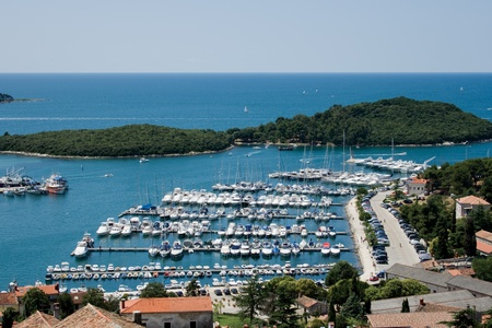 Port in Istrian town Vrsar, Croatia.
