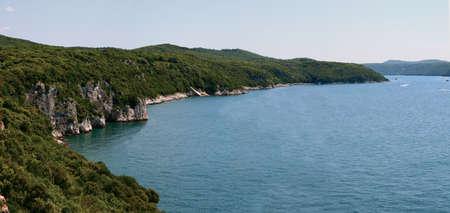 Famous Limsky canal. Adriatic sea. Croatia. Panorama photo