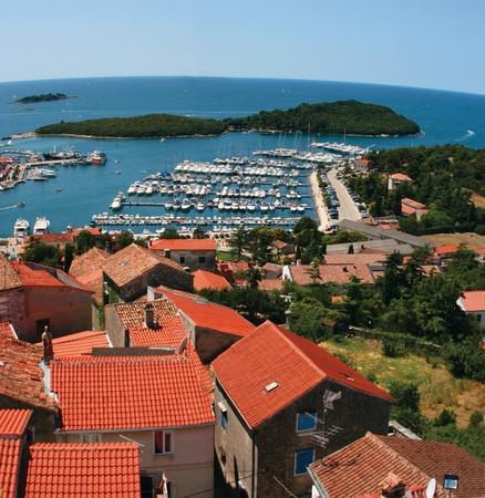 Panorama of port in Istrian town Vrsar, Croatia.
