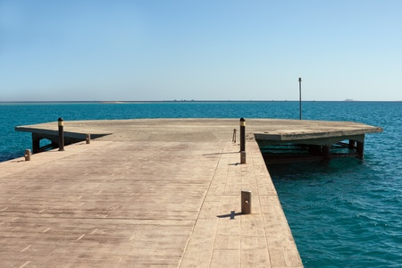 helideck: Empty helicopter platform on Red Sea, Egypt