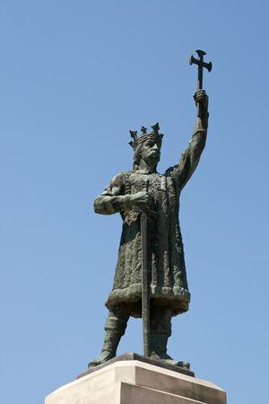 Stephen the Great Monument in Chisinau, Moldova